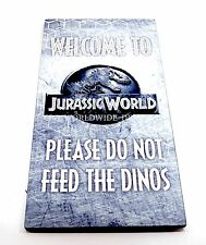 """Universal Studios Welcome To Jurassic World Visual Park Prop Sign 12"""" x 24"""""""
