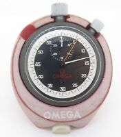 .Vintage OMEGA Rattapante Split Second Timer Chrono Stopwatch With Desk Stand