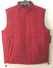 Men's Chaps Red Polyester Quilted Vest, Large, NWOT