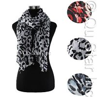LOT OF WOMEN'S SPRING FASHION LEOPARD CHEETAH ANIMAL PRINT WARM SHAWL SCARF