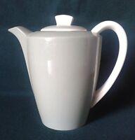 POOLE CELADON GREEN COFFEE POT BONE CHINA GREEN & WHITE TWIN TONE ART DECO STYLE