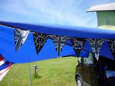 """Festival BuntingChalkboard FabricCamping to Personalise 14 x 6"""" Flags4 metre"""