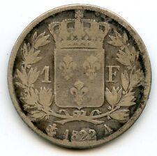 France Louis XVIII 1 Franc 1822 A Paris F.206/40