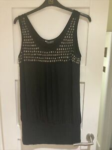 Ladies Black Dorothy Perkins Top Size 18 New Without Tags