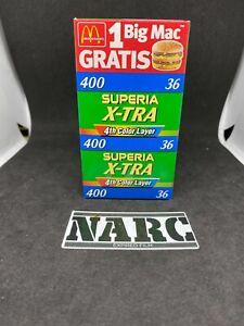3 x Fujifilm Superia X-TRA 400 4th color layer 35mm expired film analog film
