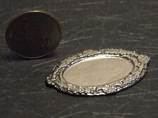 Dollhouse Miniature Metal Silver Tray Platter 1:12 inch scale A45 Dollys Gallery