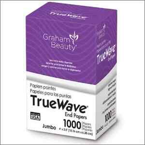 """True Wave Jumbo End Papers- (Small)1000 Paper 4"""" x 2.5"""