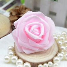 50x Foam Rose Heads Artificial Flower Garden Party Home Decor Light Pink