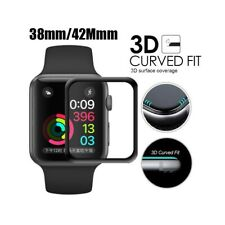 FULL COVER Tempered Glass Screen Protector For Apple Watch 38 40 42 44mm iWatch