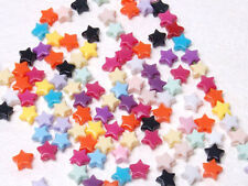 T273 Acrylic Multi Colour Opaque Star Beads Jewellery Finding 6mm 200pcs