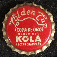 GOLDEN CUP KOLA CHAMPAÑA CORK LINED SODA BOTTLE CAP CROWNS LOS TEQUES, VENEZUELA