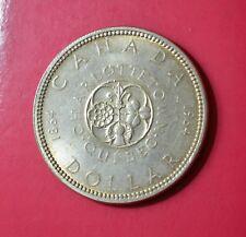 CANADA, 1 DOLLAR 1964, CHARLOTTE TOWN QUEBEC, Silver Coin        [#7217]
