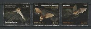 Croatia 2017 Fauna Animals Bats 3 MNH stamps