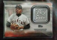 2021 Topps Series 1-WILLIE MAYS-GIANTS 70th Anniversary Logo Patch Card!!