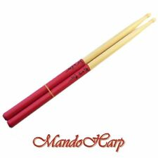 'GRIPS' Drum Sticks - Maple 7A Latex Hand Grips NEW