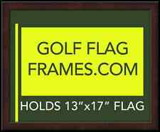 16x20 Brown Flag Frame, brn-002, holds 13x17 Masters Flag; Flag not incl
