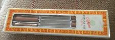 Vintage set of Airedale 6 Fondue Wooden Handled Forks Boxed