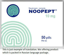 Noopept Improve Memory Nootropic Supplement Brain Booster 50 tablets