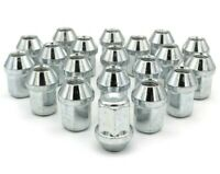 20x M12 x 1.5, 19mm Hex, Tapered Seat, Closed Wheel Nuts (Silver) Ford Focus