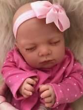 Adorable Reborn Baby Girl Lotty Newborn Closed Eyes Soft Scented Vinyl 3+