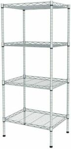 Utility Garage Shelving Unit 4 Shelf Heavy Duty Wire Metal Rack Organizer