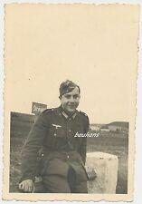 Foto Soldat -Schild -1940  2.WK  (G751)
