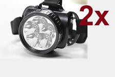 2x Stirnlampe Set Kopflampe Stirnleuchte 5LED Kopfleuchte Helmleuchte