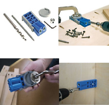 Pocket Hole Jig Kit Jr Bit System Woodworking Tool Drill Guide Wood DIY Kit R3