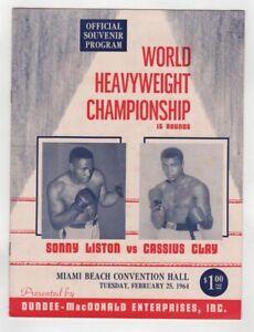 1964 Cassius Clay Sonny Liston Program 2/25 Miami Ex/MT Unscored Very Rare