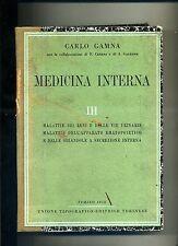 Carlo Gamna # MEDICINA INTERNA III # UTET 1950