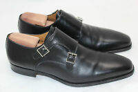 Magnanni 'Miro' Double Monk Strap Shoe Loafer Buckle Slip-On Mid Black 11 M (I3)