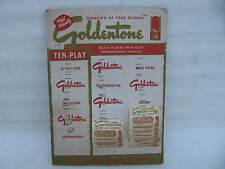 Goldentone Phonograph Needles Counter Display Record Studio Sign Vintage