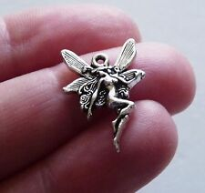 15x Angel Charms for Bracelet Fairy Pendant Silver tone Necklace Making Supplies