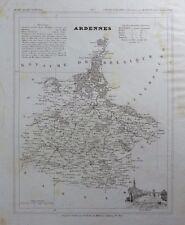 Carte du Département des Ardennes gravée sur acier par Alés Petit Atlas National