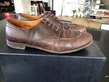 Vintage Prada Mens Leather Brown Shoes Size 10.5