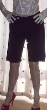Purple long leg stretch pantie~pettipants~culottes size large/extra large