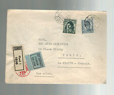 1945 Plzen Czechoslovakia cover to Red Star Olympique France