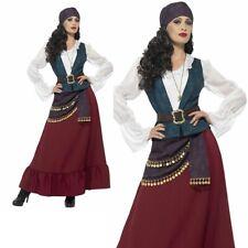 Adult Deluxe Pirate Costume Buccaneer Ladies Elizabeth Fancy Dress Outfit UK 8-1