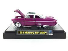 M2 Machines Auto-Thentics 1954 54 Mercury Sun Valley Car Pink Diecast Scale 1/64