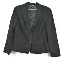 East 5th 3 Button Blazer Womens Career Business Evening Black Stretch Size 18
