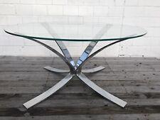 Glas Chrom Couchtisch Space Design Coffee Table Roger Sprunger!? Dunbar!?