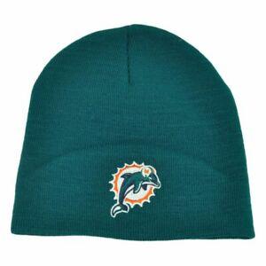 NFL Beanie Miami Dolphins, Green Cuffless