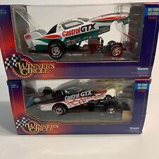 Lot Of 2 1997 Winners Circle John Force Castrol GTX Funny Car -- 1/24th