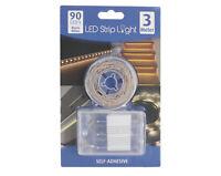 90er 3m LED Streifen Stripe Batteriebetrieb LED Band Leiste Strip Warm Weiß