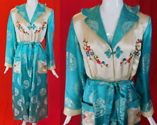 Vintage Moorson China Chinese Silk Embroidered Brocade Belted Dressing Gown Robe