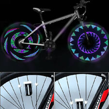Bike Bicycle Cycling Car Tyre Wheel Neon Valve Firefly Spoke LED Light Lamp $T
