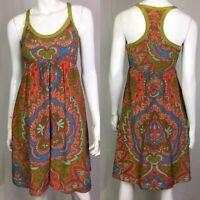 $168 Anthropologie Moulinette Soeurs Women's 2 Silk Flare Shift Paisley Dress
