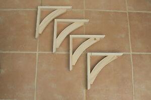 """Wooden Shelf Brackets x 4 (Ideal for 10"""" - 11.5"""" Shelves)"""