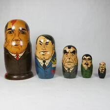 MATRIOSKA MATRIOSCA RUSSA ORIGINALE LEGNO VINTAGE PRESIDENTI UNIONE SOVIETICA