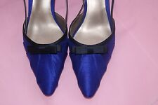 Jacques Vert  Cobalt Blue Navy Sling Back Shoes New without Box  UK 8 EU 41